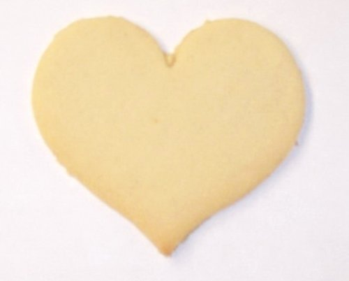 Scott's Cakes Undecorated 3.5 Inch Medium White Heart Sugar Cookie