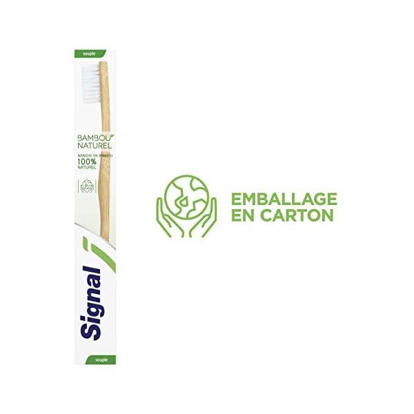 Signal Brosse à Dents Manuelle Souple Bambou 100% Naturel, Nettoyage Douceur, Poils Souples pour Dents Propres (Lot de 8…