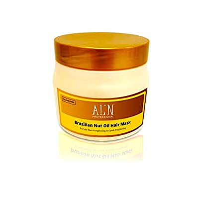 Alin Professional Brazilian Nut Oil Hair mask Deep Moisture Treatment for regular to damaged hair. Sulfate Free. Also for lasting post-straightened results. 500 ML
