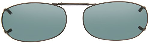 Cocoons Polarized Clip-on Rectangle 3 L458G Rectangular Sunglasses, Gunmetal, 48 - Fit Cocoons Sunglasses Over