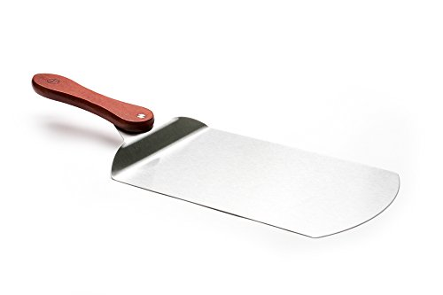 Outset QZ10 Pizza Peel with Rosewood Handle, Stainless Steel