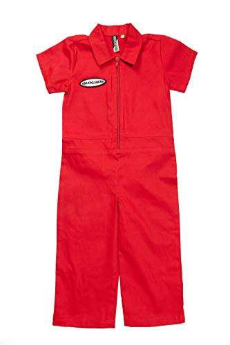 Born to Love Knuckleheads - Infant and Baby Boy Grease Monkey Coveralls Red 3T