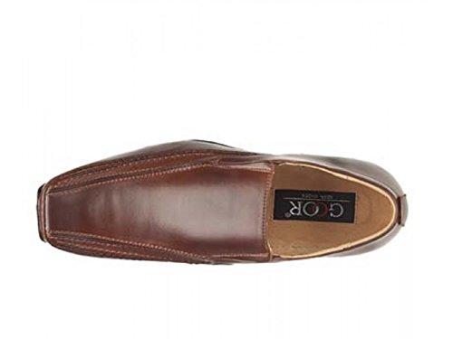 Goor Sin Cordones Color Negro Brown Hombre Cuadrada Dark Marrón Para Puntera Zapato Y OOrCqwA
