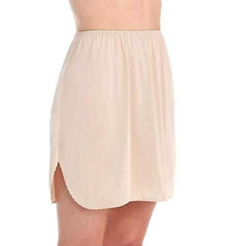 (Vanity Fair Women's Plus Size Tricot Double Slit Half Slip 11717, Damask Neutral, Large (18