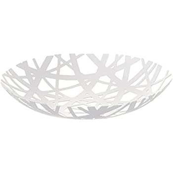YAMAZAKI home Tower Fruit Bowl, White