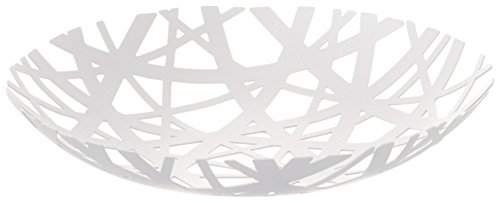 Red Co. Decorative Centerpiece Bowl in White - Powder-Coated Steel
