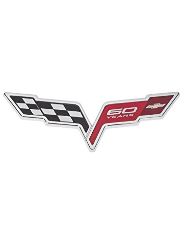 60th Anniversary Cross Flags Emblem 2013 Corvette 22901571 ()