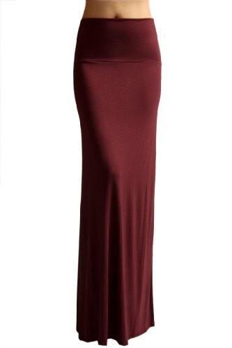 (Azules Women'S Rayon Span Maxi Skirt - Solid medium)