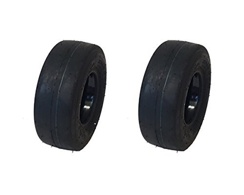 (MowerPartsGroup (2) Puncture Resistant 11x4.00-5 Smooth Tires with Liner Gravely Toro Scag Hustler)