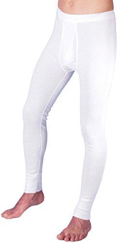 HERMKO 3540 2er Pack Herren lange Unterhose long johns (Weitere Farben), Farbe:weiß, Größe:D 7 = EU XL