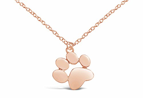 Rosa Vila Paw Print Necklace, Paw Necklace, Dog Necklace, Dog Jewelry for Women, Dog Paw Necklace, Dog Pendant, Dog Necklaces for Women (Rose Gold Tone)
