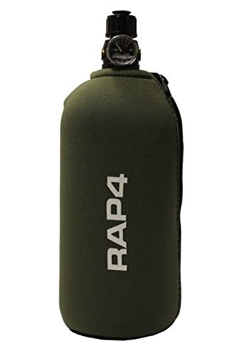 RAP4 Paintball Tank Grip Bottle Cover - Olive - Fits 48ci 3k 4500 & 20oz CO2 (Bottle 68ci Glove)