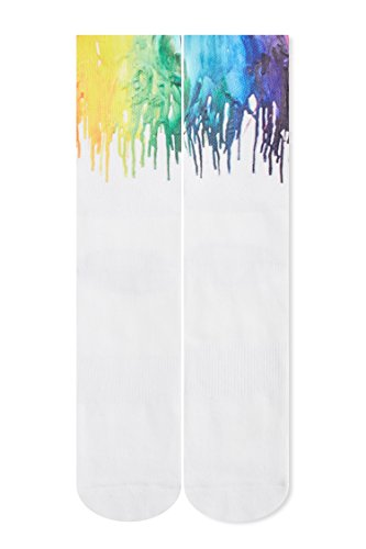 RAISEVERN Crazy Funny Pride Flag Novelty Rainbow Colorful 3d Print Footwear Casual Athletic Sports Crew Tube Socks -