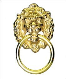 Lion Head Drawer/Cabinet Ring Pull - Cabinet And Furniture Pulls ...