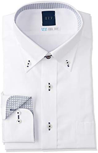 a.v.v・形態安定加工・長袖・ワイシャツ・カラーバリエーション8柄 YDD175 メンズ