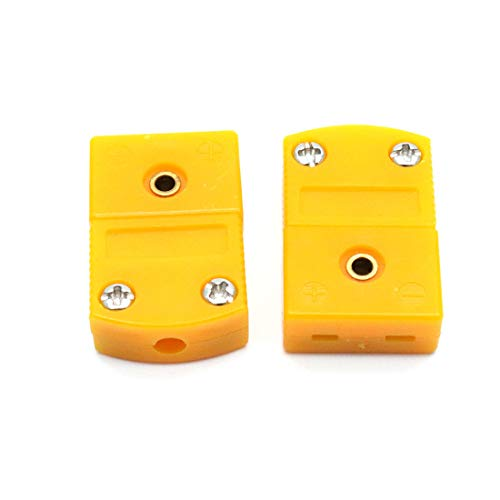 Aodesy K Type Thermocouple Connector 10Pcs 5Pairs Male and Fmale Yellow Color by Aodesy (Image #1)