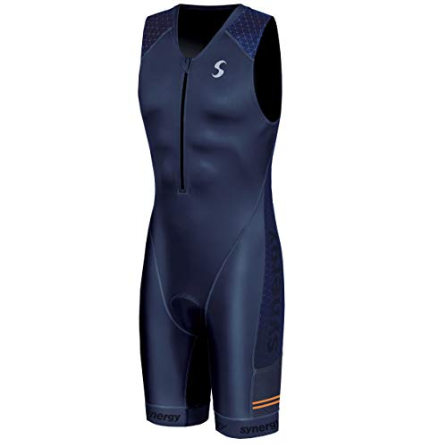 Synergy Triathlon Tri Suit Men's Trisuit (Elite Night Shadow, Large)