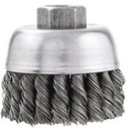 Vermont American 16831 3-Inch Crimped Wire Cup Brush with 5/8-Inch Arbor