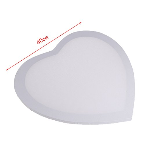 Misright Creative Heart-shaped Wood Primed Framed Artist Blank Stretched Art Box Canvas Panel ()