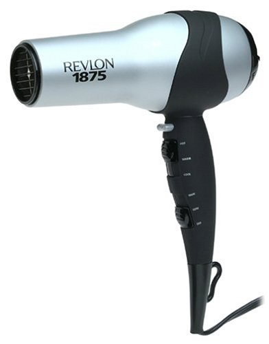 Amazon.com: Revlon Matte Chrome Full-Size Turbo Hair Dryer ...