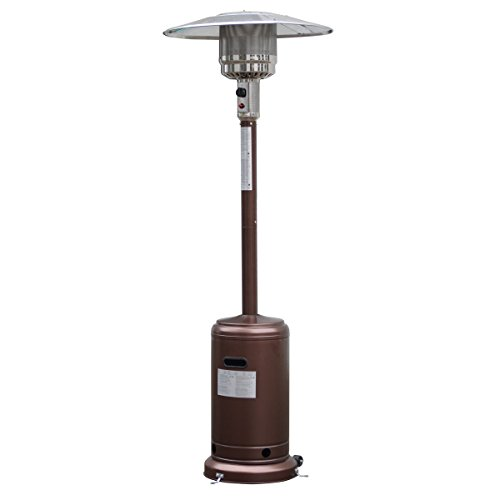 Giantex Steel Outdoor Patio Heater Propane Lp Gas W/accessories (Bronze) (Heater Patio Lp)