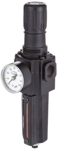 Dixon B74G-6AG-MB Norgren Series Automatic Drain Filter/Regulator with Metal Bowl and Sight Glass, 1/2'' Size, 212 SCFM, 3/4'' Port Size, 5-125 PSI by Dixon Valve & Coupling
