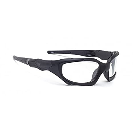 8c8290525c5 Transitions Safety Glasses in Black Wraparound Frame - Eye Protection  Equipment - Amazon.com