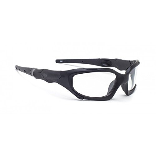 Transitions Safety Glasses in Black Wraparound - Glasses Safety Transition