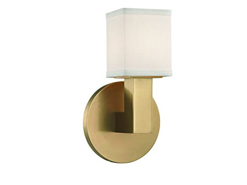 Hudson Valley Lighting Hudson Valley 5451-AGB Contemporary Modern One Light LED Wall Sconce from Clarke Collection in Brass-Antiquefinish 5, Polished Nickel Finish