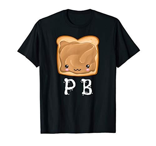 Kawaii PB&J Peanut Butter & Jelly Halloween Matching Tshirt -