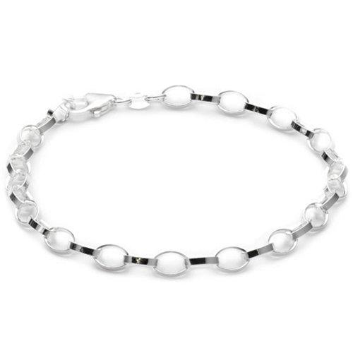 Vinani Damen-Basis Bettelarmband Charm-Anhänger Silber 925 19,5 cm Armband BBC