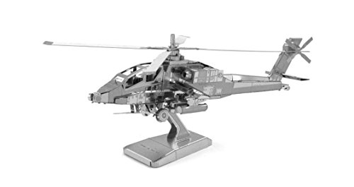 Fascinations Metal Earth Boeing AH-64 Apache Helicopter 3D Metal Model Kit
