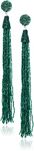 (Panacea Crystal Duster Drop Earrings, Teal, One Size)