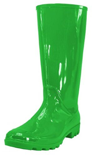 Shoes 18 Womens Classic Rain Boot with Buckle (7 Green Rain) ()