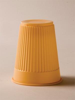 TIDI PLASTIC DRINKING CUP Plastic Cup, Peach, 5 oz, 100/bg, 10 bg/cs