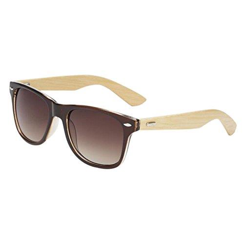 UV400 Des Femmes Meijunter Eyewear Anti de Arms de protection Cru Glare lunettes soleil Bambou Lunettes Fauve Hommes Bois PvqP1aUw
