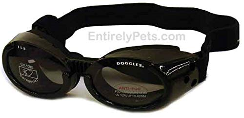 Doggles ILS Interchangeable Lens System Metallic Black Frame/Smoke Lens, Sizes: Extra Small by Doggles