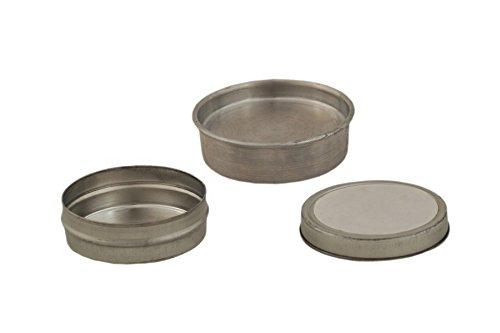 Scientific Labwares Tin Specimen Label-Top Sample Dish, 0.5 oz (Pack of 144)