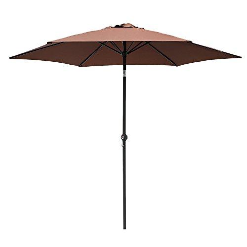 Le Papillon 8 Feet Market Patio Umbrella Only $20.99