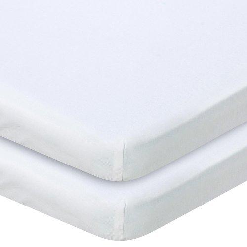 Babies R Us Knit Bassinet Sheet 2 Pack - White