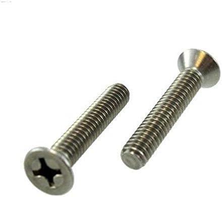 Pack of 12 5//16-18 X 2-1//2 Stainless Steel Flat Head Phillips Machine Screws