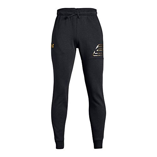 Under Armour Boys SC30 MVP Pants, Black (002)/Metallic Gold, Youth X-Large