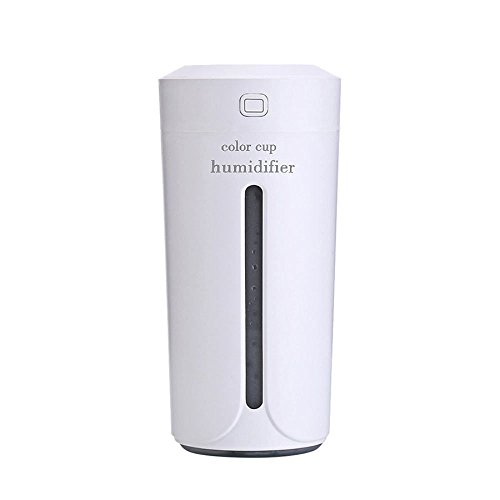 NQFL GWDZX USB Interface Mini Car Humidifier Sprayer Car Air Purifier Vehicle Humidifier Schmerzlinderung Duftlampe Humidifier,White-6.316.2cm by NQFL