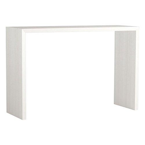 arne カウンターテーブル バーテーブル セミオーダー 日本製 幅140cm 奥行40cm 高さ90cm コンソールテーブル 机 テーブル 木製 Zero-X 14040HH ホワイトウッド B079KYW6Y5 幅140×奥行40,ホワイトウッド