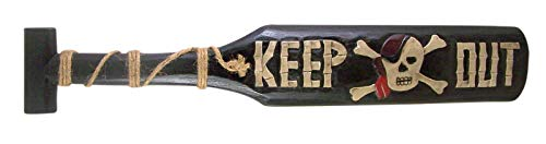 - Painted Keep Out Wooden Oar Decor, 23 Inches