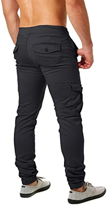 ReRock Young & Rich męskie spodnie cargo, rozciągliwe, wąskie, 36-3236: Odzież