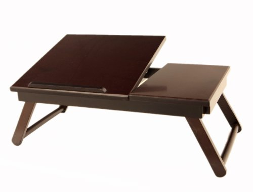 ing Lap Desk Flip Top with Drawer and Foldable Legs ()