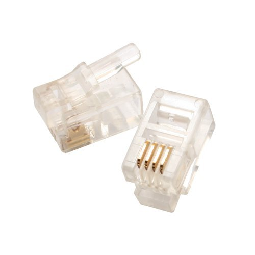 Eclipse 702-018 Modular Plug,Solid,6P4C,Round Cable,..50 uin Gold,50/Pack