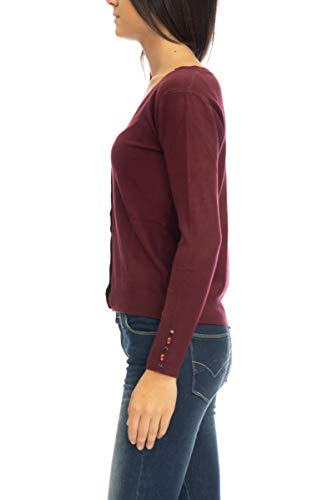 Bordeaux Cardigan Yes Zee Zee Donna Yes Donna Cardigan 0fBCxHq