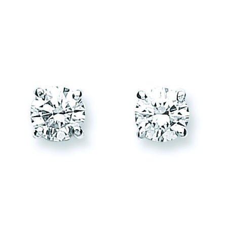 Jareeya - 0,70 CT Diamant Solitaire Boucles d'oreille à tige, Lot de en or blanc 18 ct